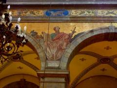 Eglise Sainte-Croix - Français:   Église Sainte-Croix de Saint-Servan, commune de Saint-Malo (35)  Fresques peintes par Louis Duveau (Saint-Malo 1818 - Paris 1867) du 13 juin 1854 au 21 mai 1855. Saint-Paul.