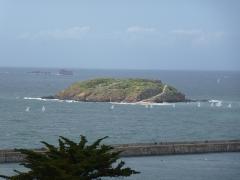 Tombeau de Chateaubriand et ensemble de l'îlot du Grand Bé -  le grand bé saint malo