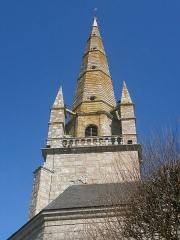 Eglise Saint-Cornély - English: église de Carnac détail du clocher