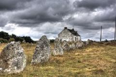Six menhirs de l'enceinte du Ménec -  Alignement de Carnac