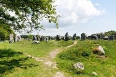 Quatre-vingt-deux menhirs alignés - Alignement de Kermario. (Carnac, Morbihan, Bretagne, France)
