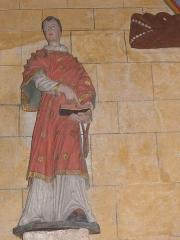 Eglise Saint-Jean-Baptiste - Français:   Statue d\'un saint prêtre de l\'église Saint-Jean-Baptiste de Le Croisty (56).