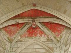 Chapelle Sainte-Barbe et maison du garde - Voûtes de l'abside de la chapelle Sainte-Barbe du Faouët (56).
