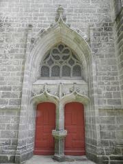 Chapelle Sainte-Barbe et maison du garde - Portail central de la chapelle Sainte-Barbe du Faouët (56).