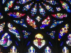 Eglise Saint-Gilles - Église Saint-Gilles de Malestroit (Morbihan, France), maîtresse-vitre de la vie de saint Gilles