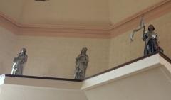 Eglise Saint-Cyr - Français:   Église Saint-Cyr (Moréac), série de trois statues,
