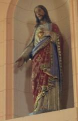 Eglise Saint-Cyr - Français:   Église Saint-Cyr (Moréac): statue de Christ