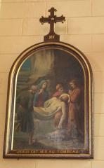 Eglise Saint-Cyr - Français:   Église Saint-Cyr (Moréac): Chemin de croix, station N°14