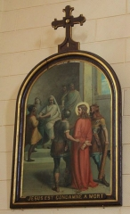 Eglise Saint-Cyr - Français:   Église Saint-Cyr (Moréac): Chemin de croix, station N°1