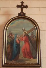 Eglise Saint-Cyr - Français:   Église Saint-Cyr (Moréac): Chemin de croix, station N°4
