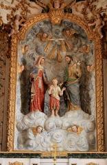 Eglise Saint-Cyr - Français:   Église Saint-Cyr (Moréac): statue de la sainte famille dans le retable central