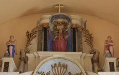 Eglise Saint-Cyr - Français:   Église Saint-Cyr (Moréac): partie supérieure du retable central
