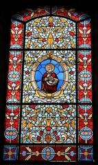 Eglise Saint-Cyr - Français:   Église Saint-Cyr (Moréac): vitrail figurant Saint-Joachim
