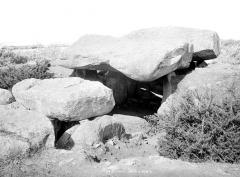 Trois dolmens dans le tumulus de Rondossec -