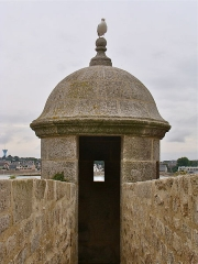 Fortifications de la ville : Citadelle et remparts - English: Bartizan, Port-Louis fortress, Morbihan, Brittany, France