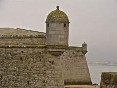 Fortifications de la ville : Citadelle et remparts -  a view of Fortress in Port-Louis, Morbihan, Brittany, France