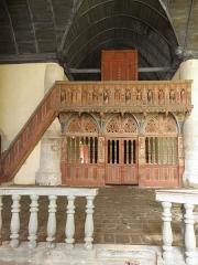 Chapelle Saint-Nicolas - Français:   Élévation est du jubé de la chapelle Saint-Nicolas de Priziac (56).