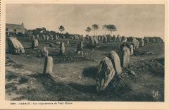 Alignements du Petit-Ménec - Français:   Carte postale de Carnac (Morbihan, France)