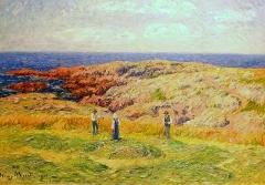 Ancienne cohue - Français:   Henry Moret: Fenaison en Bretagne (huile sur toile, 1906, musée des beaux-arts de Vannes)