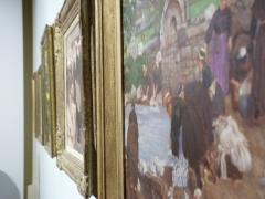 Ancienne cohue - Français:   Série de tableaux prise de profil au musée des beaux-arts de Vannes