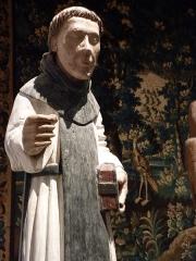 Ancien hôtel du Parlement de Bretagne, dit Château-Gaillard - Français:   Statue en bois polychrome de Saint Vincent-Ferrier datant du XVème siècle  Musée d\'histoire et d\'archéologie de Vannes - France