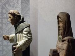 Ancien hôtel du Parlement de Bretagne, dit Château-Gaillard - Français:   Statues en bois polychrome: Saint Vincent-Ferrier et autre datant du XVème siècle et XIVème   Musée d\'histoire et d\'archéologie de Vannes - Château-Gaillard