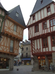 Maison -  Two almost touching medieval buildings in the old part of Vannes, France.  By me.