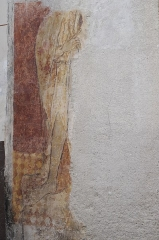 Eglise Sainte-Agathe - Deutsch:   Katholische Pfarrkirche Sainte-Croix, auch Sainte-Agathe, in Ris im Département Puy-de-Dôme (Auvergne-Rhône-Alpes), Wandmalerei