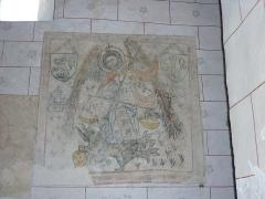 Eglise Sainte-Agathe - Français:   Oeuvre du XVie Siècle (entre 1460 et 1470) découvert dans les années 1950 et classé aux Monuments Historiques en 1995.