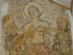 Eglise Sainte-Agathe - Français:   Fresque de l\'église de Ris