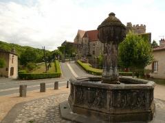 Ancien château fort - Français:   Lieu où a habité Blanche Selva à Saint-Saturnin (petite maison située à gauche)