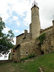 Château fort et église Saint-Jean du Marchidial - Français:   Champeix, comm. du Puy-de-Dôme (France, région Auvergne). Château du Marchidial.