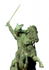 Statue de Vercingétorix - English: The statue of Vercingétorix was created by Frédéric Bartholdi, who also created the Statue of Liberty. This image is in a png file format, so the entire background is transparent.