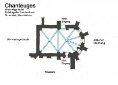 Prieuré - Deutsch: Chanteuges.ehem.Abtei.Kapelle des Abtes
