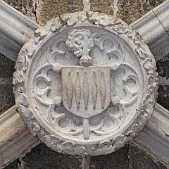 Prieuré - Deutsch: Chanteuges, Chapelle St.-Anne, Schlussstein Joch 1