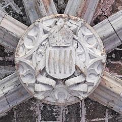 Prieuré - Deutsch: Chanteuges, Chapelle St.-Anne, Schlussstein Joch 2