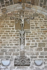 Prieuré - Deutsch: Chanteuges, Chapelle St.-Anne, triumphale Kreuzigung auf Golgotha