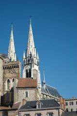 Ancien château ou Palais des ducs de Bourbon -  The cathedral and an old castle