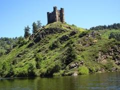 Restes du château fort -  Le château d'Alleuze sur le Lac de Granval.