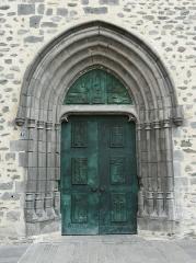 Ancienne église Notre-Dame - Le portail occidental de l'ancienne église Notre-Dame, Saint-Flour, Cantal, France.