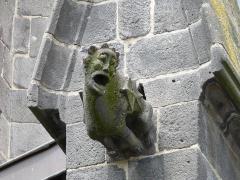 Ancienne église Notre-Dame - Gargouille de l'ancienne église Notre-Dame, Saint-Flour, Cantal, France.