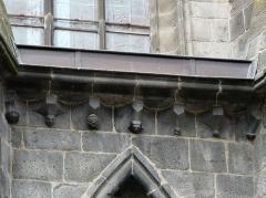 Ancienne église Notre-Dame - Modillons de l'ancienne église Notre-Dame, Saint-Flour, Cantal, France.