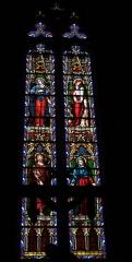 Ancienne cathédrale Saint-Maurice, actuellement église paroissiale - Deutsch: Bleiglasfenster in der Kirche Saint-Maurice in Mirepoix (Ariège) im Département Ariège in der Region Midi-Pyrénées (Frankreich)