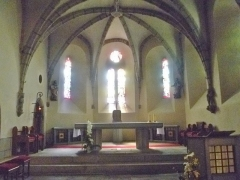Eglise Saint-Matthieu - Interieur de l'église Saint-Matthieu de Laguiole, dept. Aveyron, France