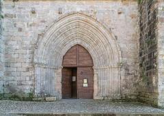 Eglise Saint-Jean - English: Portal of the Saint John church in Najac, Aveyron, France