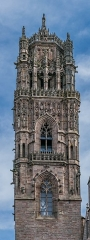 Cathédrale Notre-Dame - English: Bell tower of the Cathedral of Our Lady of the Assumption of Rodez, Aveyron, France
