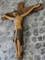 Eglise Notre-Dame - Français:   Thérondels - Église Notre-Dame - Christ roman de Térondels