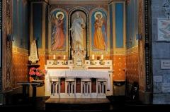 Eglise Notre-Dame-de-l'Assomption -  Altar and niche-altarpiece of the Sacred Heart Chapel