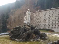 Thermes Chambert -  Statue de la vallée du Lys, à côté des thermes de Luchon, par Jean-Marie Mengue
