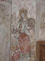 Eglise de Benque-Dessus - Français:   Fresque représentant sainte Catherine, église Saint-Blaise de Benque-Dessus, Haute-Garonne, France.